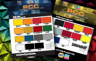 Color cards for Finish 1, Industrial & Equipment & PCC packaged colors