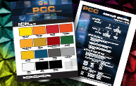 PCC Factory Packaged Color Card